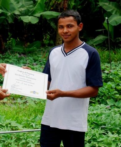 Biochar, charcoal, certificate in organic farming, training of workers, biochar production, pyrolysis methods,