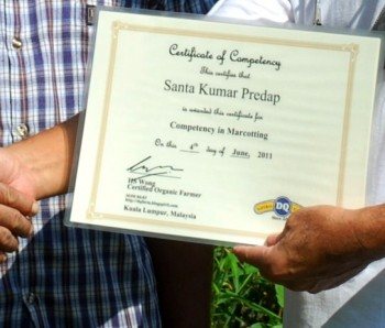 training, certificate in organic farming, dq farm, knowledge based farming,